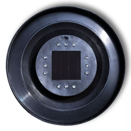 shumee Zewnętrzna lampa solarna LED, kula, 50 cm, 1 szt., z bolcem