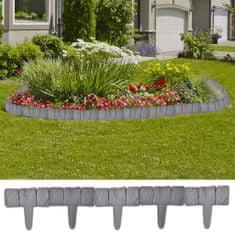 shumee Ogrodzenie trawnika, 41 elementów, 10 m