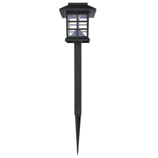 shumee Set zunanjih solarnih LED svetilk s konico 12 kosov 8,6 x 8,6 x 38 cm