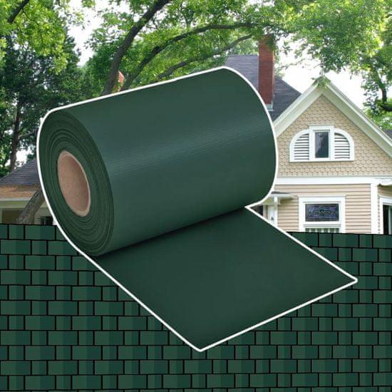 shumee Osłona na ogrodzenie ogrodowe, PVC, 70x0,19 m, zielona