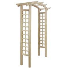 shumee Zahradní oblouk s treláží 150 x 50 x 220 cm dřevo