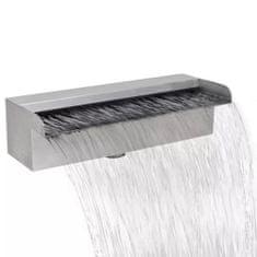 shumee Obdélníková bazénová fontána nerezová ocel 30 cm