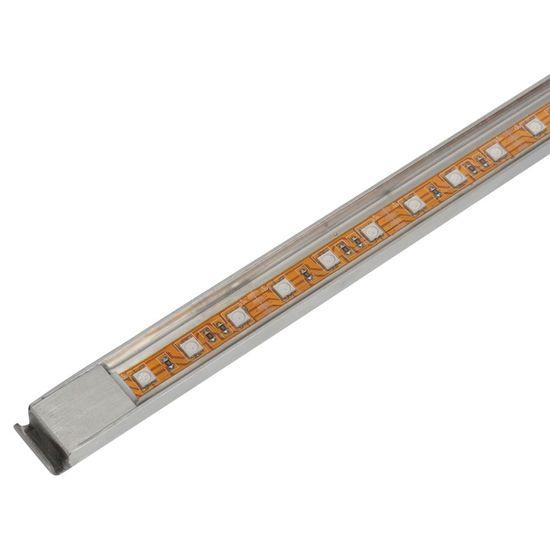shumee Négyszögletes rozsdamentes acél medence szökőkút LED fényekkel 120 cm