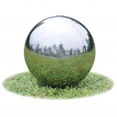 shumee Zahradní fontána koule s LED nerezová ocel 30 cm
