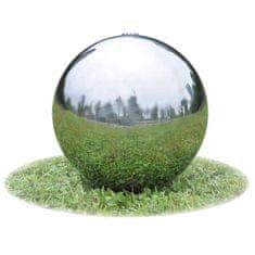 shumee Zahradní fontána koule s LED nerezová ocel 40 cm