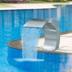 shumee Záhradný vodopád/bazénová fontána,nehrdzavejúca oceľ 45x30x60cm