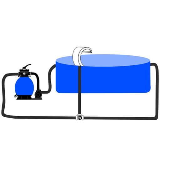 shumee Fontanna ze stali nierdzewnej do basenu ogrodowego, 45x30x60 cm