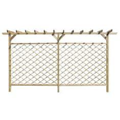 Vidaxl Zahradní mřížkovaný plot s pergolou dřevo