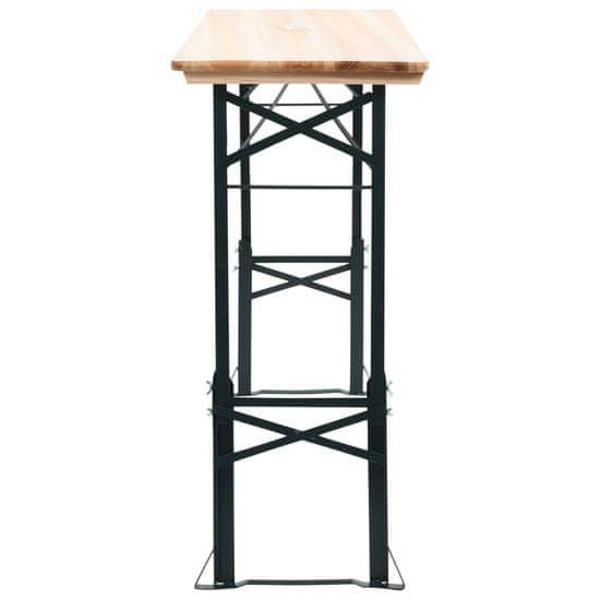 shumee Zložljiva pivska miza 169x50x75/105 cm borovina