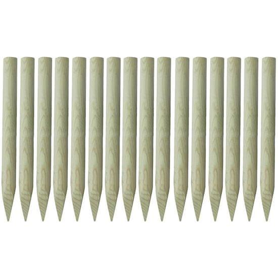 shumee Koničasti ograjni stebrički 16 kosov impregniran les 100 cm