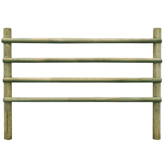 shumee Ogrodzenie z impregnowanego drewna sosnowego, 6 m