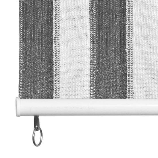 shumee idaXL antracitszürke-fehér csíkos kültéri sötétítő 180 x 230 cm