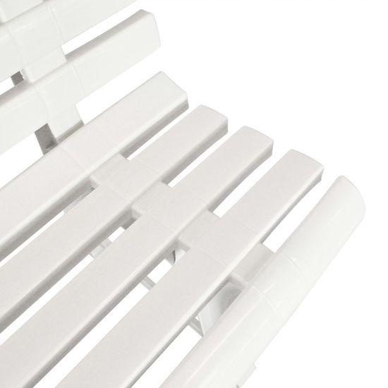 shumee fehér műanyag kerti pad 145,5 cm