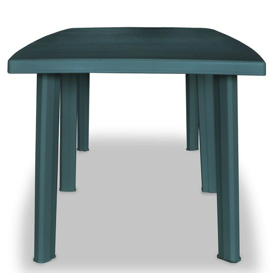 shumee zöld műanyag kerti asztal 210 x 96 x 72 cm