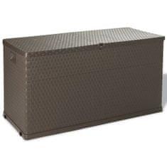 shumee Záhradný úložný box hnedý 120x56x63 cm
