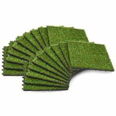 shumee Umetna trava plošče 20 kosov 30x30 cm zelene barve