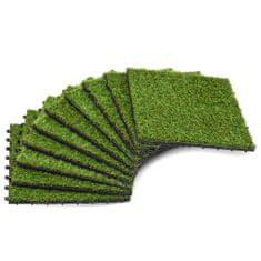 shumee Umetna trava plošče 10 kosov 30x30 cm zelene barve