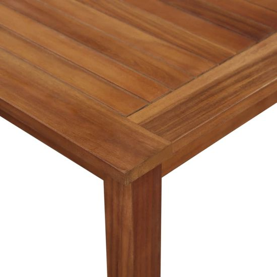 shumee Vrtna miza 200x90x74 cm trden akacijev les