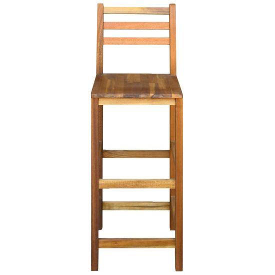 shumee Barski stoli 2 kosa trden akacijev les