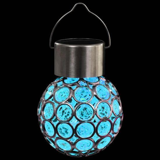 Greatstore Závesné solárne svetlá 8 ks LED svetlá RGB