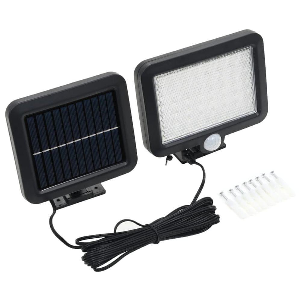 Solární lampa s čidlem pohybu LED světla bílá