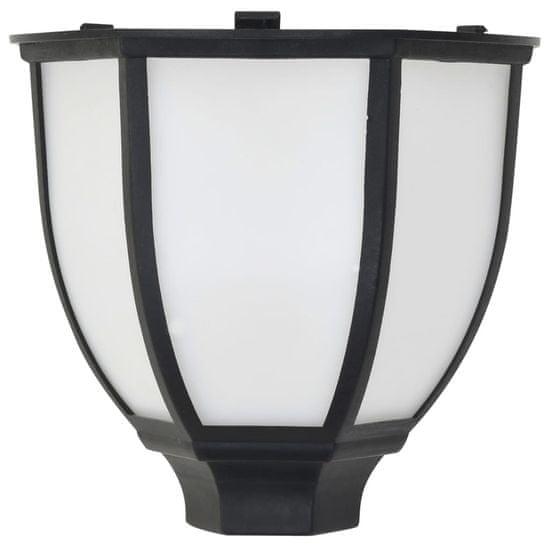 shumee Vonkajšie solárne LED svietidlá 3 ks čierne