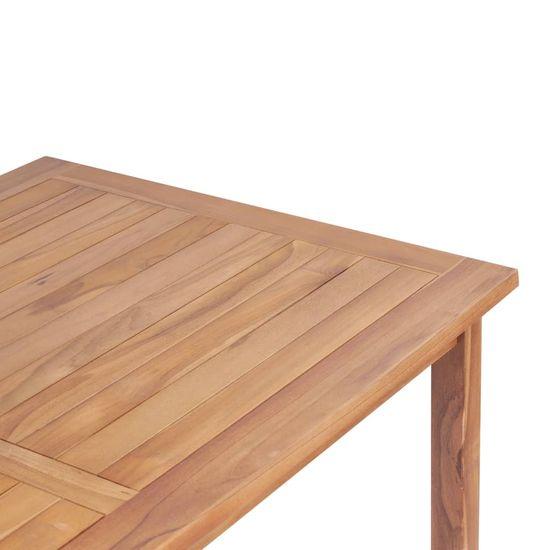 shumee Vrtna barska miza 120x65x110 cm trdna tikovina