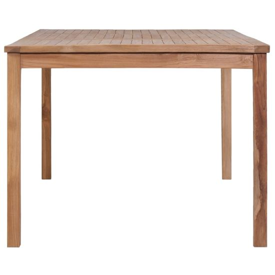 shumee Záhradný stôl 200x100x77 cm, tíkový masív