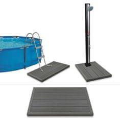 shumee Podlahový prvok pre solárnu sprchu/rebrík v bazéne, drevoplast