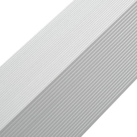 shumee Rohové ukončovacie lišty 5 ks, hliník 170 cm, strieborné
