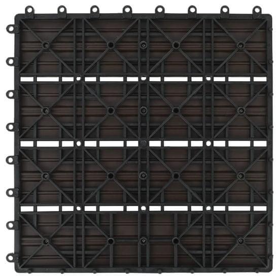 shumee Talne plošče 11 kosov WPC 30x30 cm 1 m² rjave