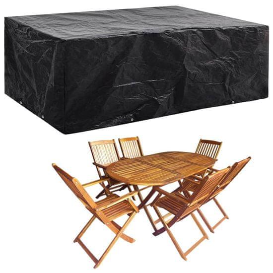shumee takaróponyva kerti bútorra, 8 fűzőlyukkal, 242 x 162 x 100 cm