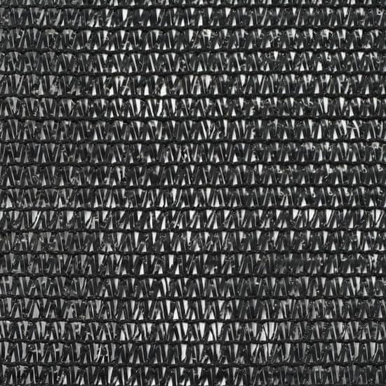 shumee Teniška zaščitna mreža HDPE 1,4x50 m črna