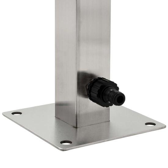 shumee szögletes rozsdamentes acél kerti vízoszlop 65 cm