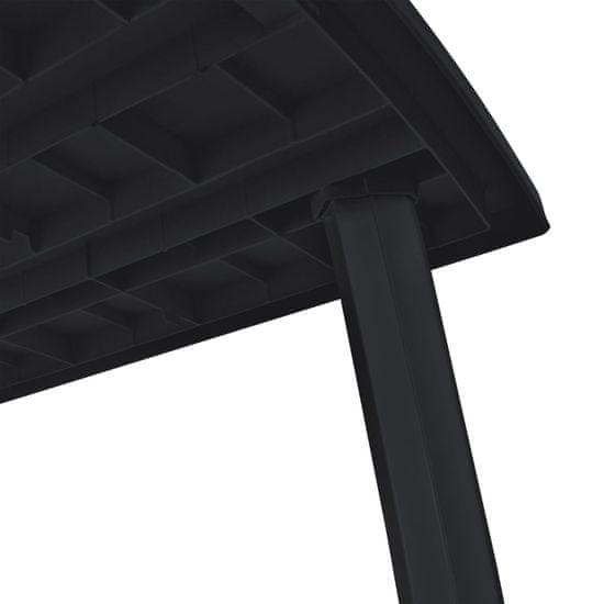 shumee Vrtna miza plastika 216x90x72 cm antracitna