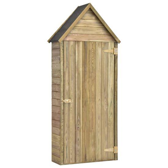shumee kerti impregnált fenyőfa szerszámtároló ajtóval 77x37x178 cm