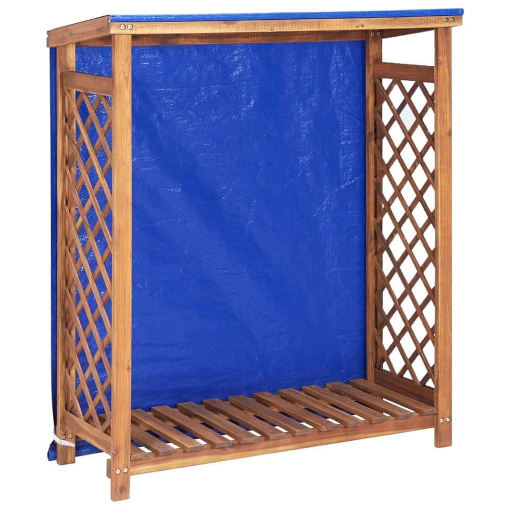 Přístřešek na dříví 105 x 38 x 118 cm masivní akáciové dřevo