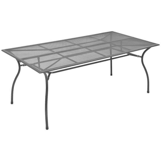 shumee Záhradný stôl, antracitový 170x89,5x72,5 cm, oceľová sieťovina