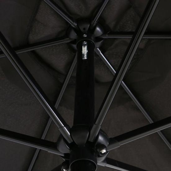 shumee Zunanji senčnik s kovinskim drogom 300 cm črn