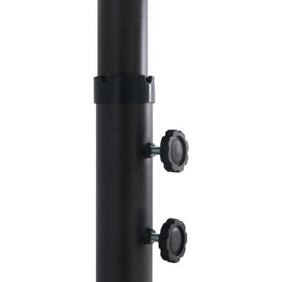 shumee Zunanji senčnik z aluminijastim drogom 460x270 cm moder