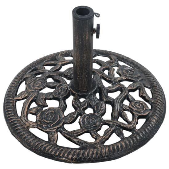 shumee Podstawa pod parasol, kolor brązu, 12 kg, 48 cm, żeliwo