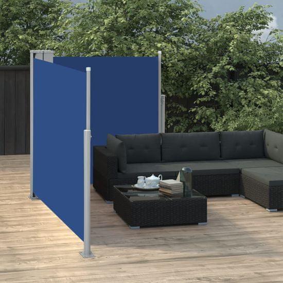 shumee Zwijana markiza boczna, niebieska, 100 x 600 cm
