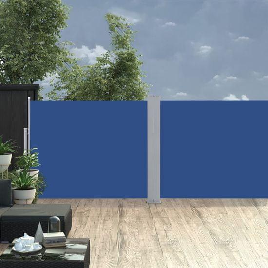 shumee Zwijana markiza boczna, niebieska, 140 x 1000 cm