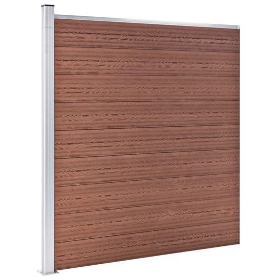 shumee Ogrodzenie do ogrodu, WPC, 1564 x 186 cm, brązowe