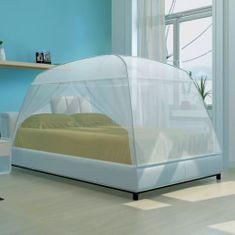 Vidaxl Moskytiéra na postel se 2 dvířky - 200 x 180 x 150 cm - bílá