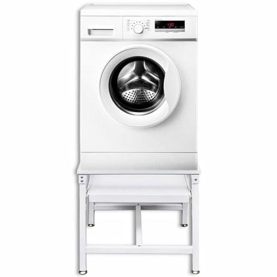 shumee Podstavek za pralni stroj z izvlečno polico bel