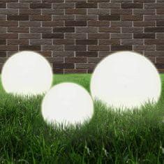 shumee Kulovitá LED lampa sada 3 kusů koule 20/30/40 cm PMMA
