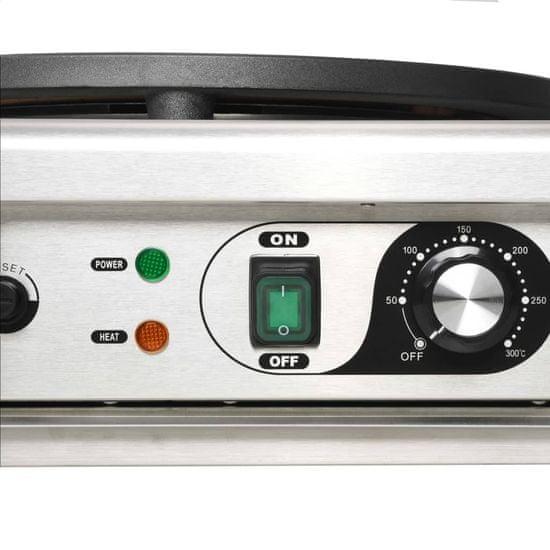 shumee Električni aparat za palačinke in izvlečni pladenj 40 cm 3000 W