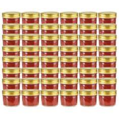 shumee Stekleni kozarci z zlatimi pokrovi 48 kosov 110 ml