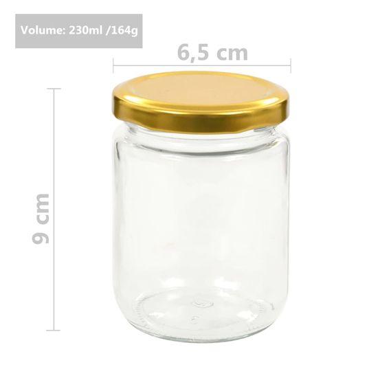shumee Stekleni kozarci z zlatimi pokrovi 96 kosov 230 ml
